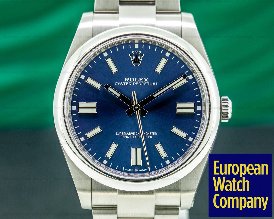 Rolex Oyster Perpetual 124300 41mm SS / Blue Dial 2020 UNWORN Ref. 124300
