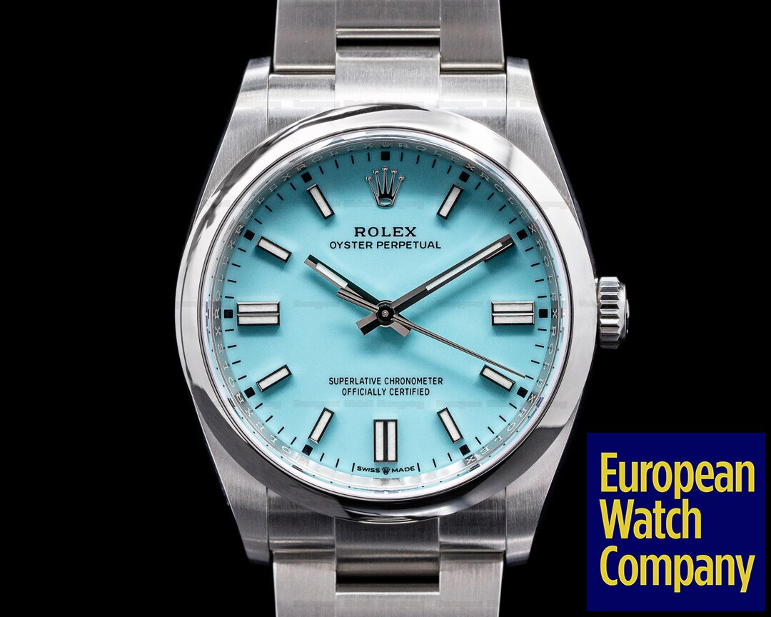 Rolex 126000 Oyster Perpetual 126000 36MM SS TURQUOISE BLUE UNWORN