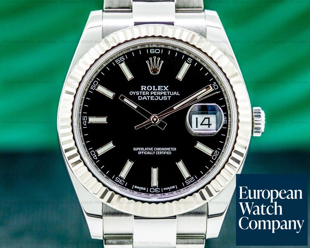 Rolex Datejust 41 Black Stick Dial SS 2018 Ref. 126334