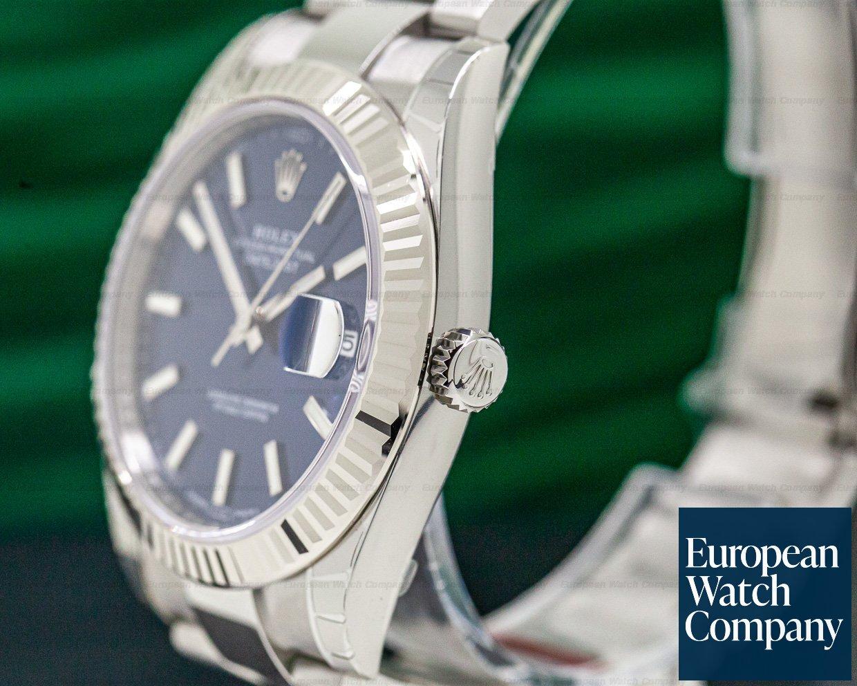 Rolex 126334 Datejust 41 Blue Stick Dial SS STICKERED