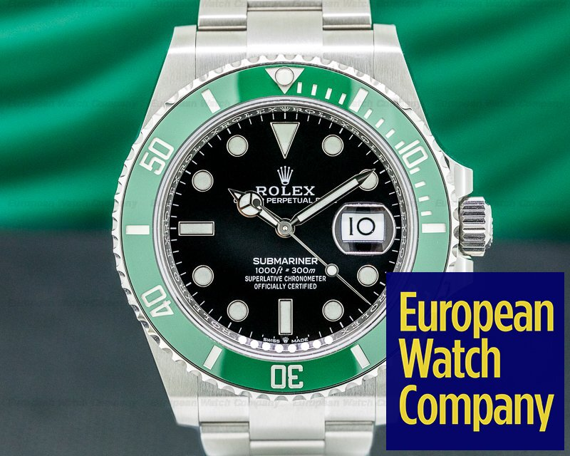 Rolex 126610LV Submariner Date 126610LV Kermit GREEN Ceramic Bezel 41MM UNWORN