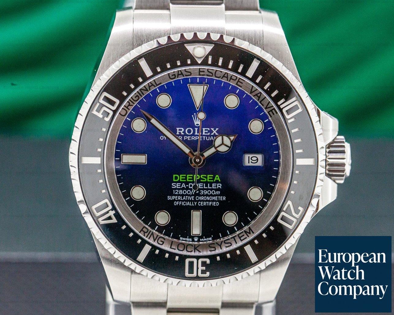 Rolex 126660 Sea Dweller Deep Sea D-Blue 2018 Model UNWORN + STICKERS