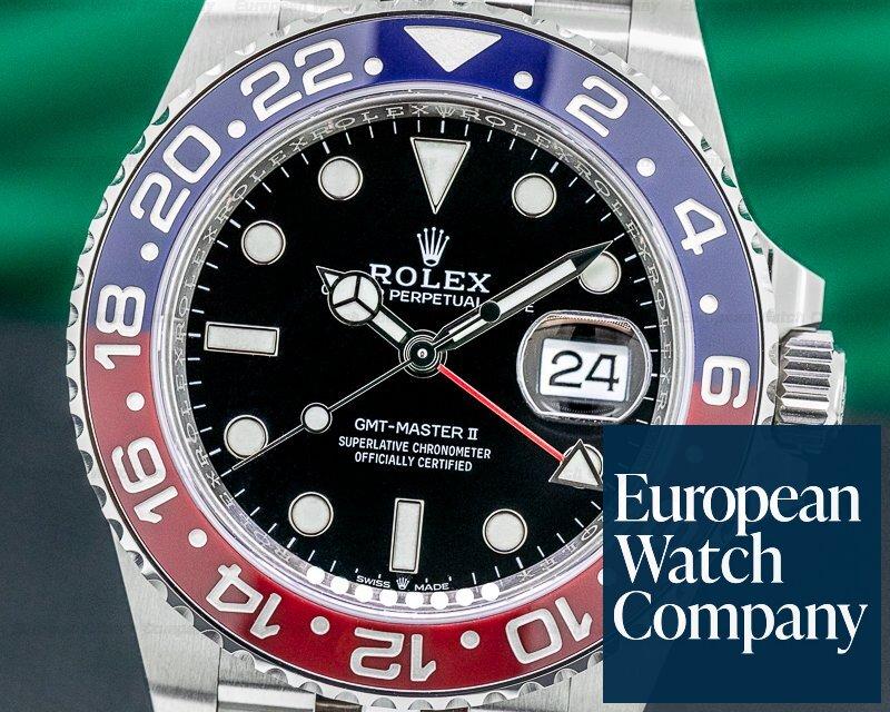 "Rolex 126710BLRO GMT Master II 126710 Ceramic ""Pepsi"" SS / Jubilee 2020 UNWORN"