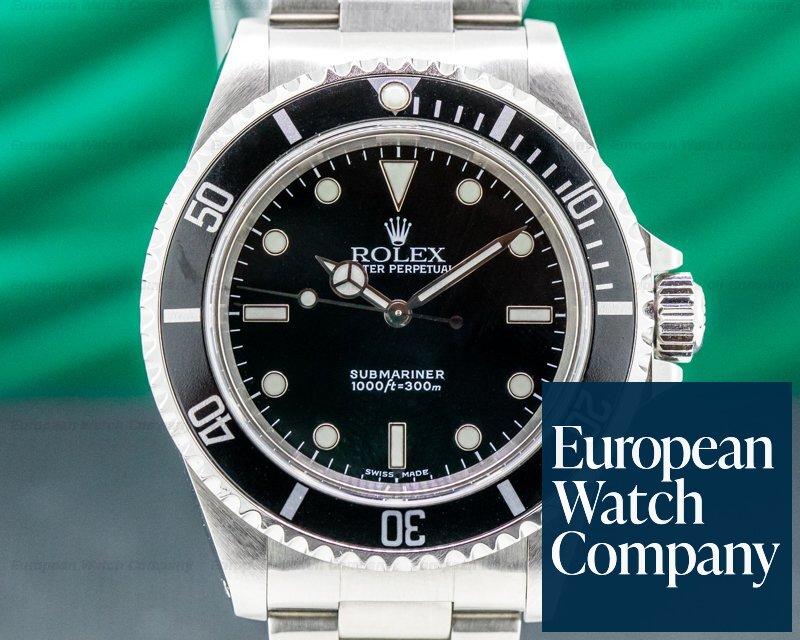 Rolex 14060 Submariner No Date SS 2 Line FULL SET
