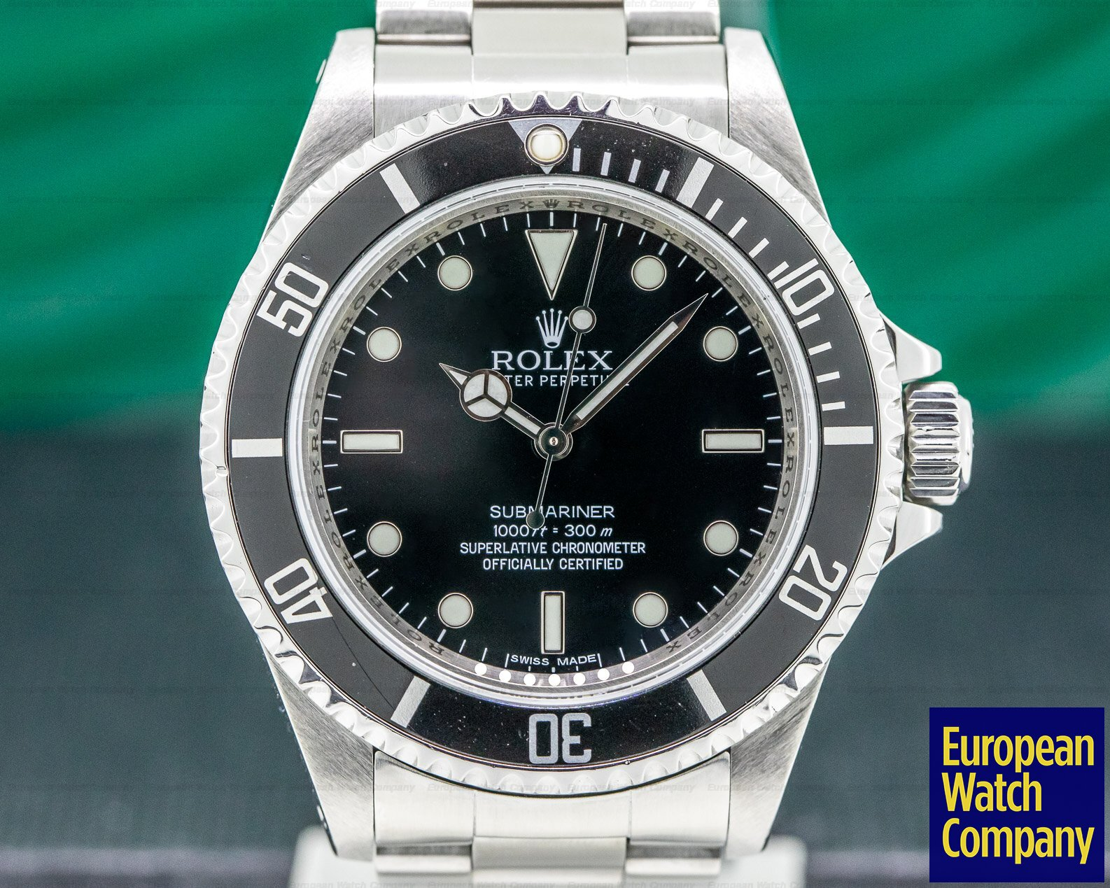Rolex 14060M Submariner No Date SS 4 Line FULL SET