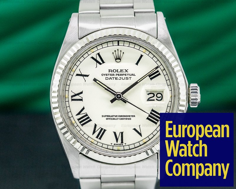 "Rolex 1601 Datejust ""Buckley Dial"" SS / Oyster"