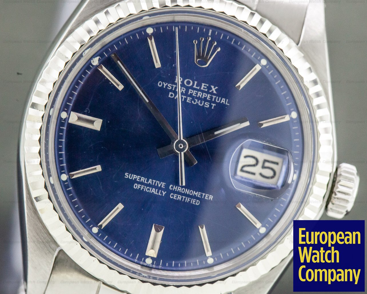 Rolex 1601 Vintage Datejust Blue Dial SS / Jubilee