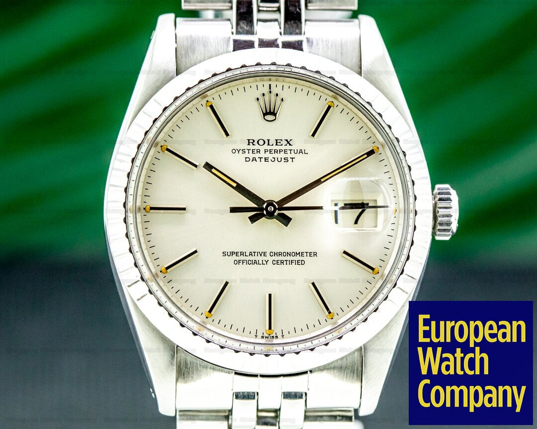 Rolex Vintage Datejust Silver Dial SS / SS Ref. 1603