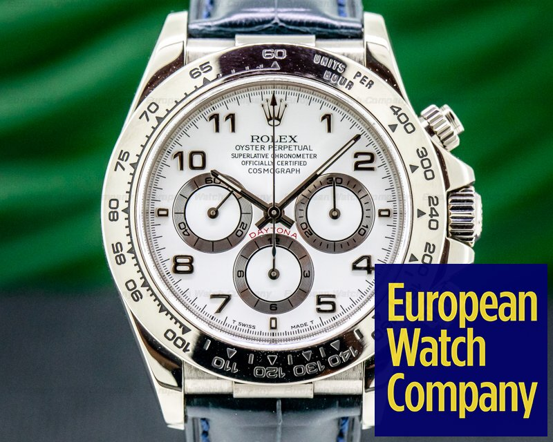 Rolex 16519 Daytona 16519 18K White Gold Zenith Movement