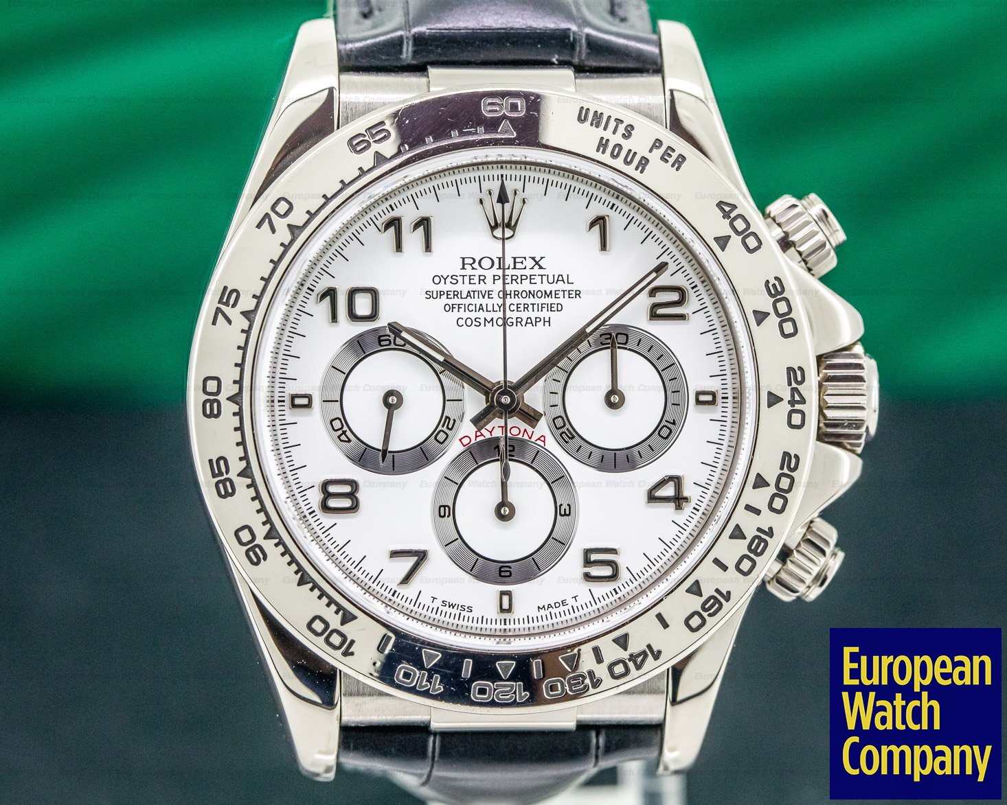 Rolex 16519 Daytona 18K White Gold Zenith Movement
