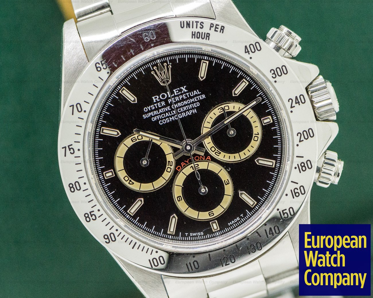 Rolex 16520 Daytona SS Black Dial Zenith Movement U Series FULL SET