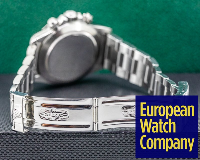 Rolex 16520 PATRIZZI Daytona SS Black Dial Zenith FULL SET