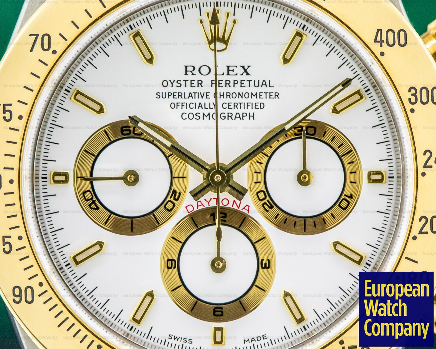 Rolex 16523 Zenith Daytona Cosmograph 18k Yellow Gold / SS FULL SET