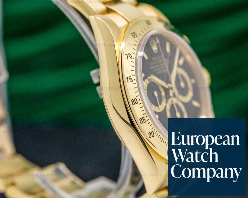 Rolex 16528 Daytona Zenith Black Dial 18K Yellow Gold / Bracelet NICE