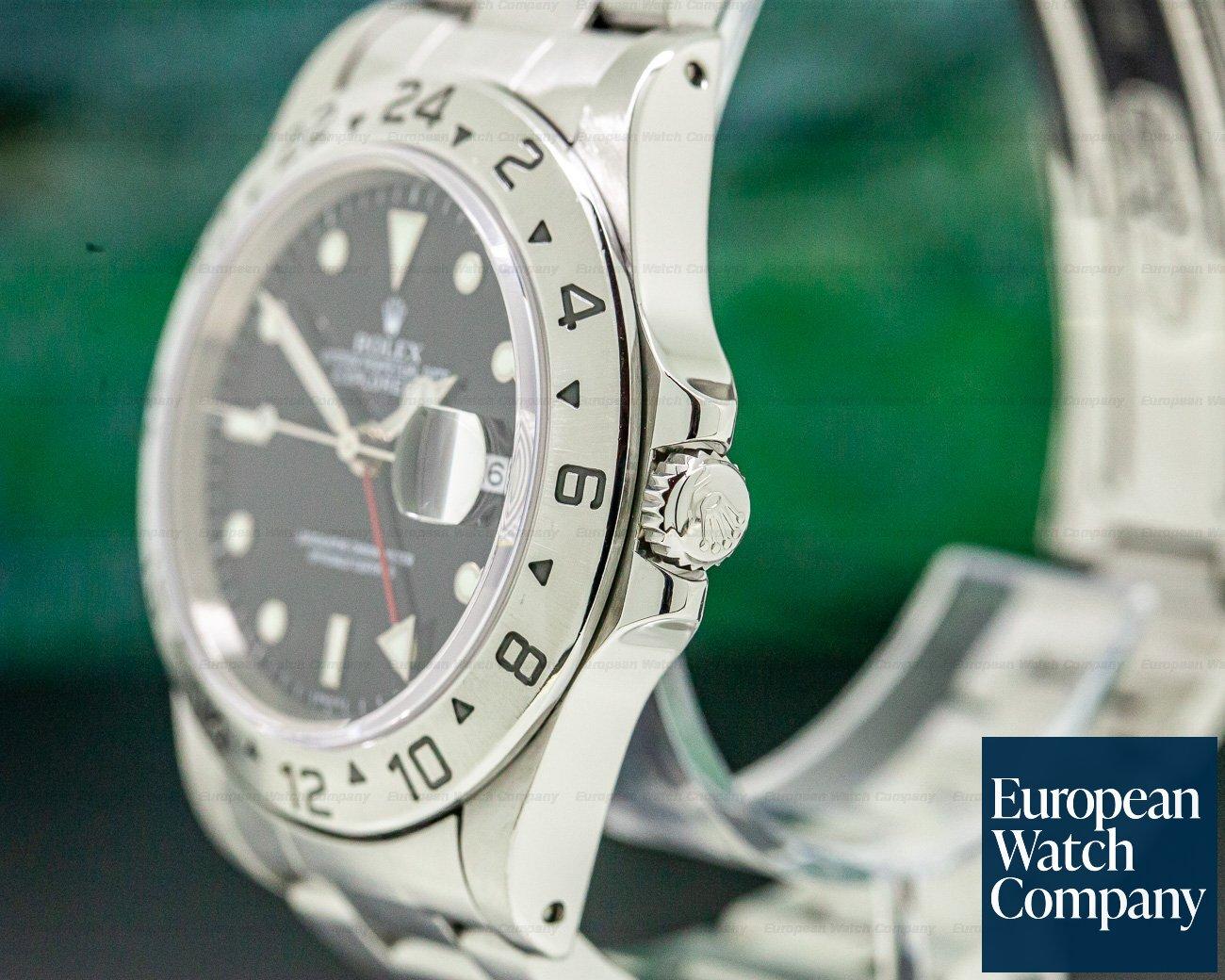Rolex 16570 Explorer II SS Black Dial