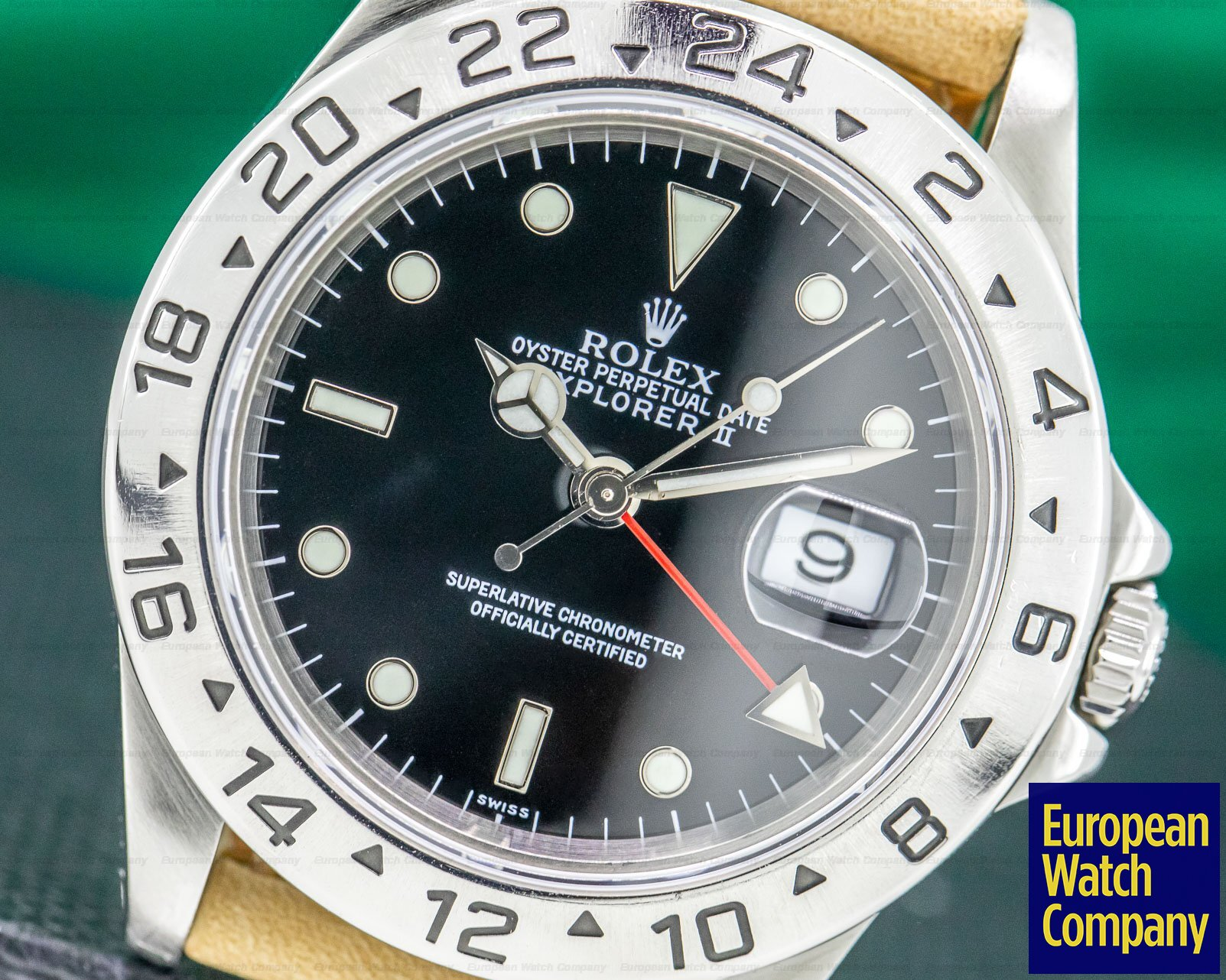 "Rolex 16570 Explorer II SS Black Dial ""Swiss Only"""