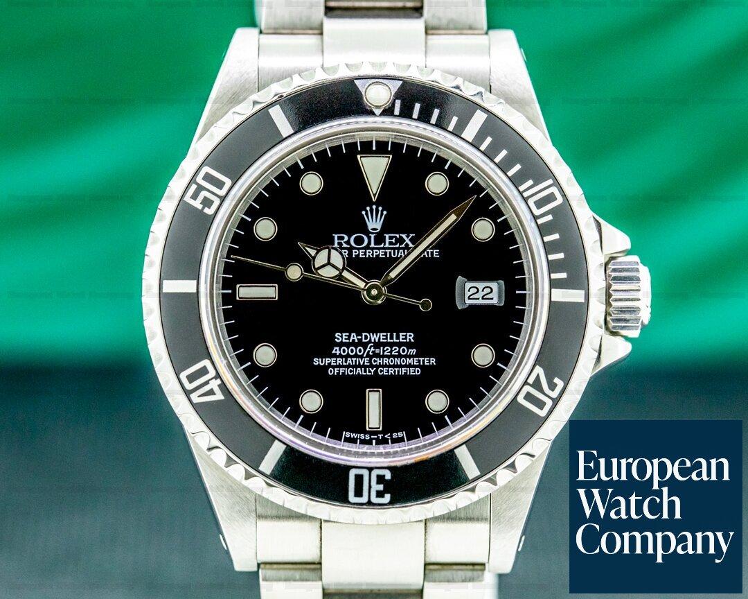 Rolex 16600 Sea Dweller 16600 SS ROLEX SERVICE