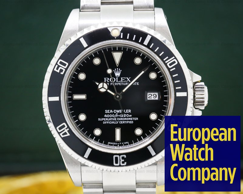 Rolex 16600 Sea Dweller SS Complete Set WOW