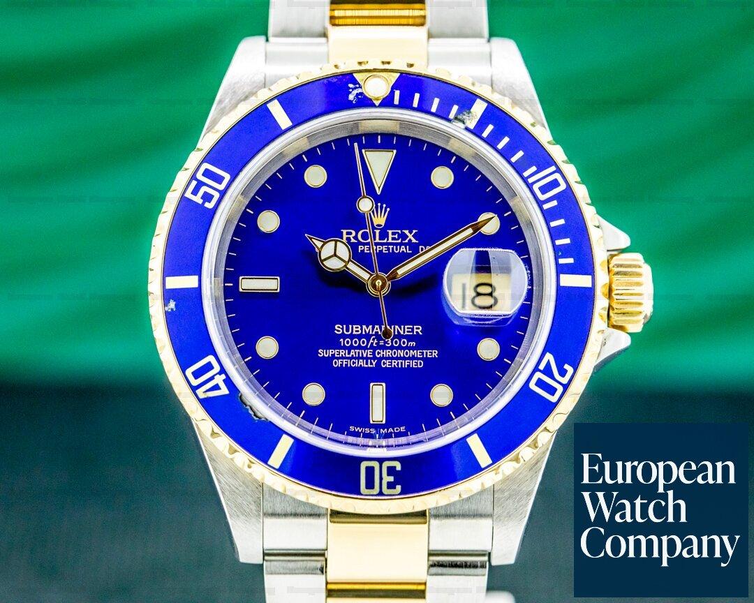 Rolex 16613 Submariner 16613 Blue Dial SS / 18K