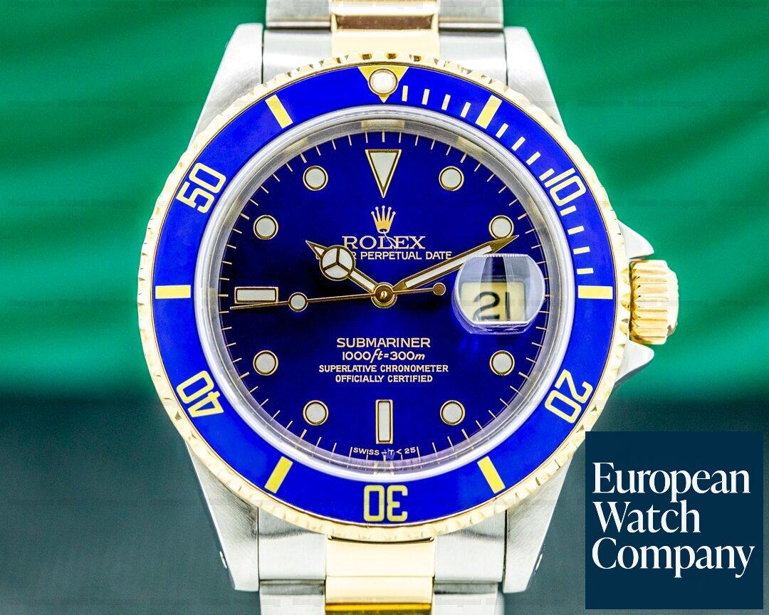 Rolex Submariner 16613 Blue Dial SS / 18K NICE Ref. 16613
