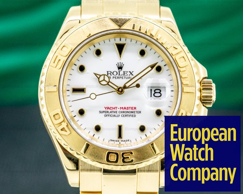 Rolex 16628 Yacht Master White Dial 18K Yellow Gold / Bracelet