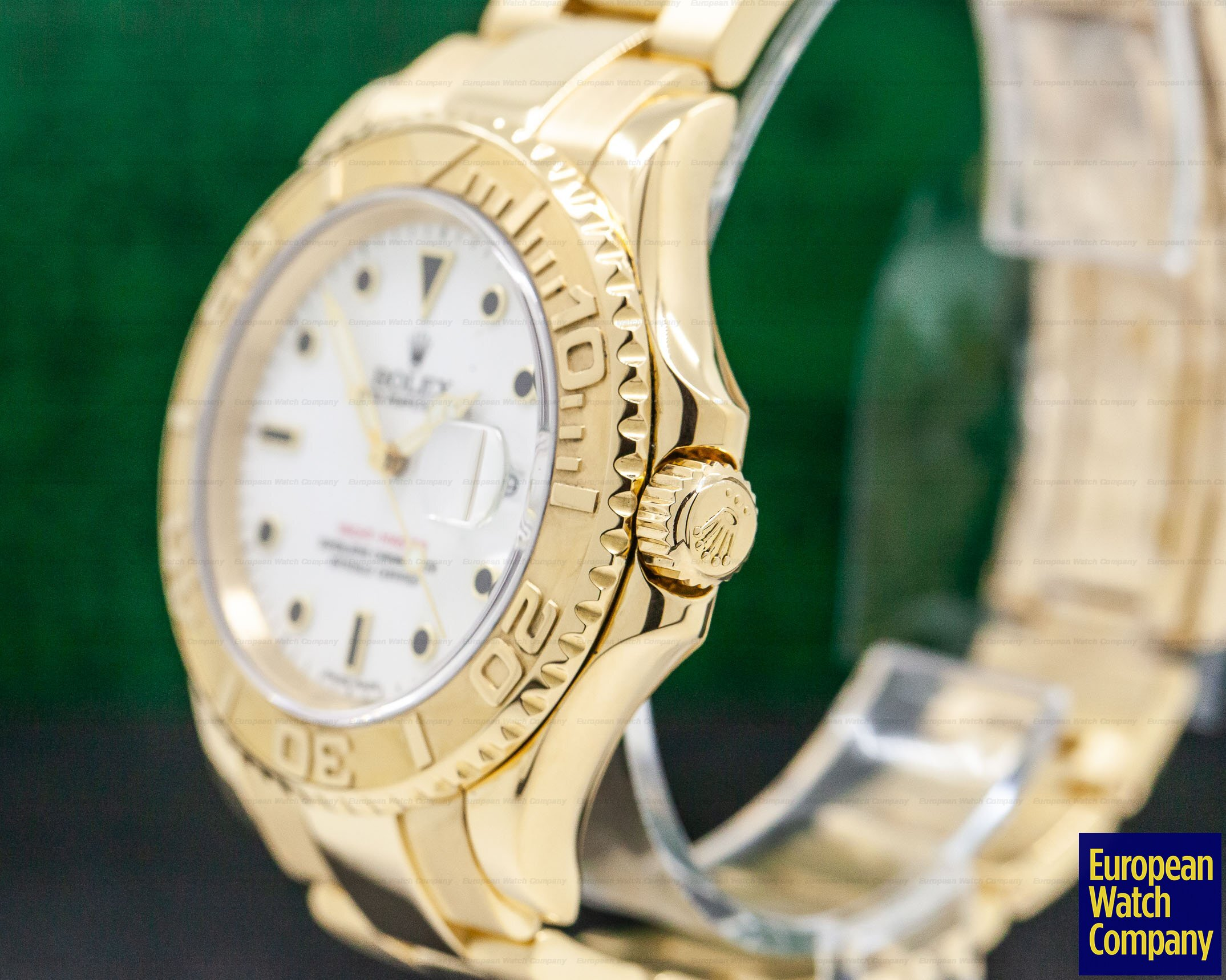 Rolex 16628B Yacht Master White Dial 18K Yellow Gold / Bracelet