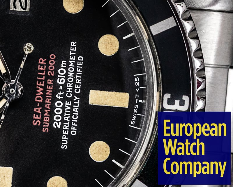 """Rolex 1665 Vintage """"Double Red"""" Sea Dweller Mark IV Dial SS / SS"""