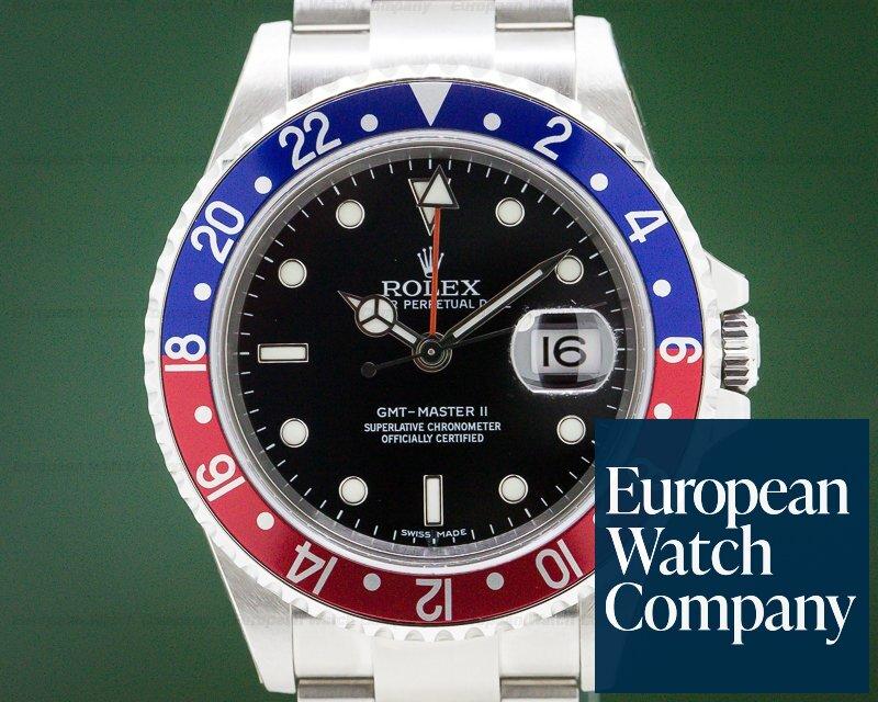 Rolex 16710 GMT Master II Pepsi Bezel Error / Stick Dial STICKERS WOW