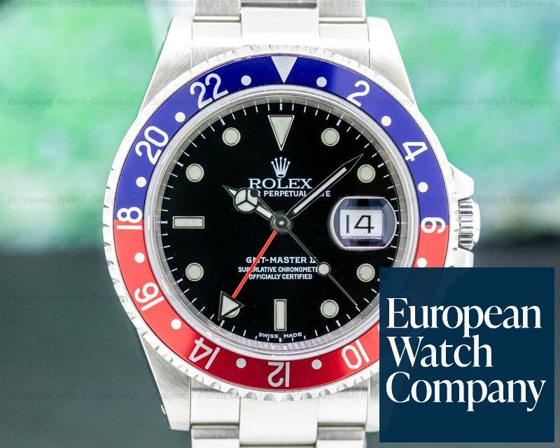 Rolex 16710 GMT Master II SS Red / Blue Pepsi Bezel