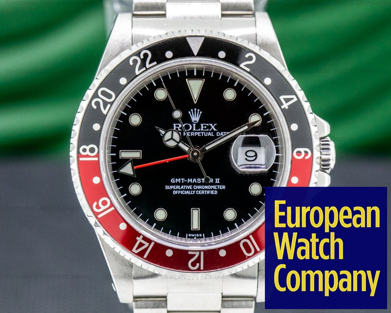 Rolex 16710U GMT Master II SS Red / Black Coke COMPLETE