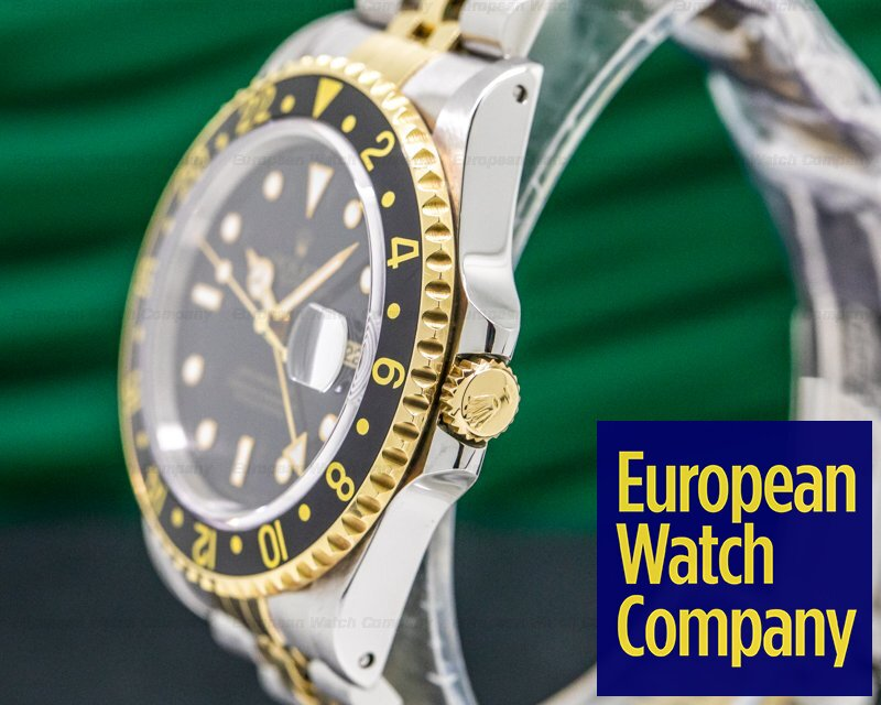 Rolex 16713 GMT Master II 18K / SS Black Dial