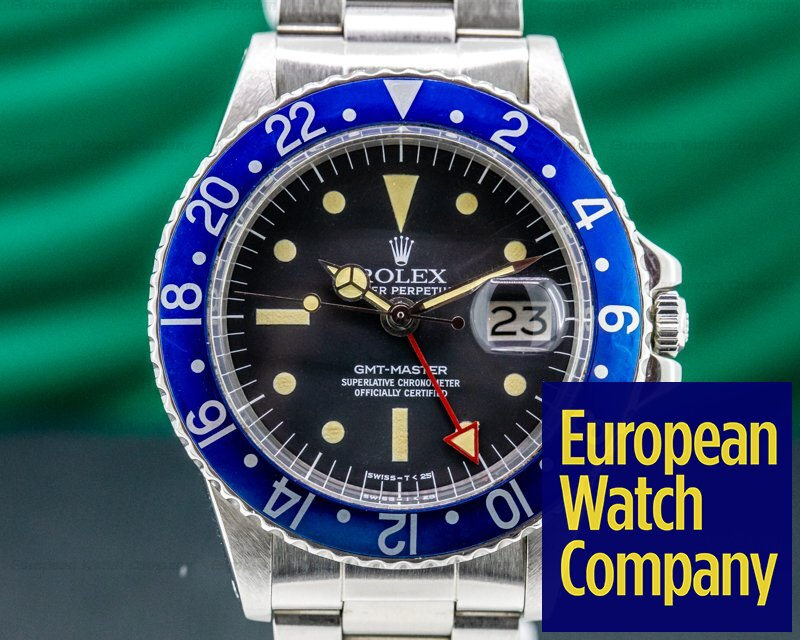 "Rolex 1675 Blueberry GMT Master ""Blueberry"" MKIII Radial Dial SS RARE"