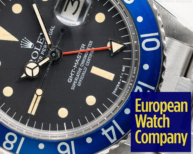 "Rolex 1675 Blueberry Radial GMT Master ""Blueberry"" MKIII Radial Dial SS WOW"
