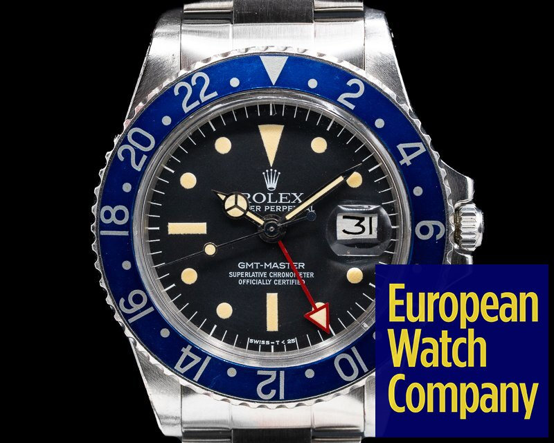 """Rolex 1675 Blueberry Radial GMT Master """"Blueberry"""" MKIII Radial Dial SS RARE WOW"""