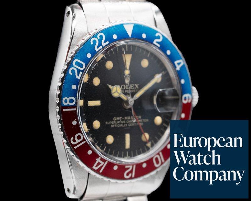 Rolex 1675 Vintage GMT Master Gilt Underline Pepsi Bezel c. 1964