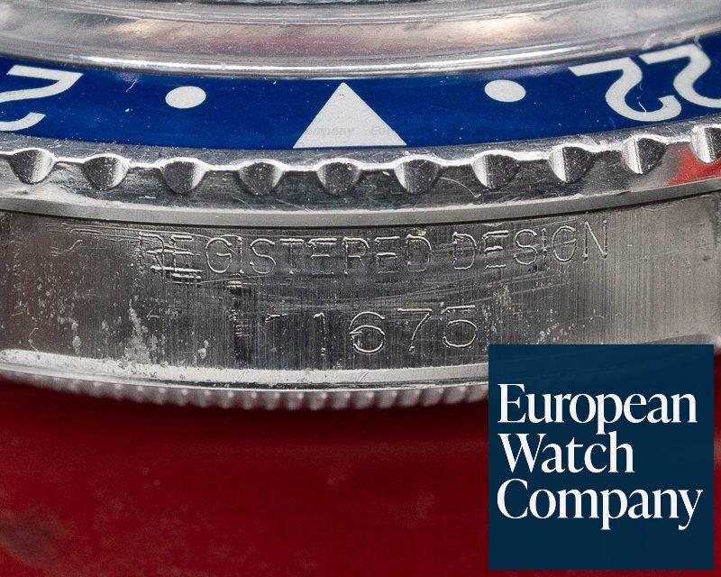 "Rolex 1675 Vintage GMT Master ""Pepsi Bezel"" Matte Dial 1966"