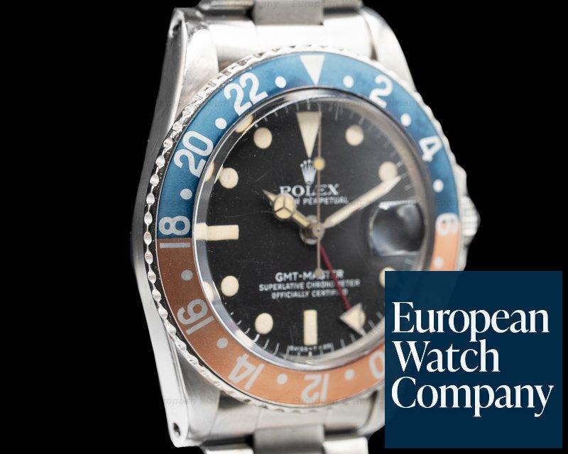 "Rolex 1675 Vintage GMT Master ""Pepsi Bezel"" SS Circa 1978"