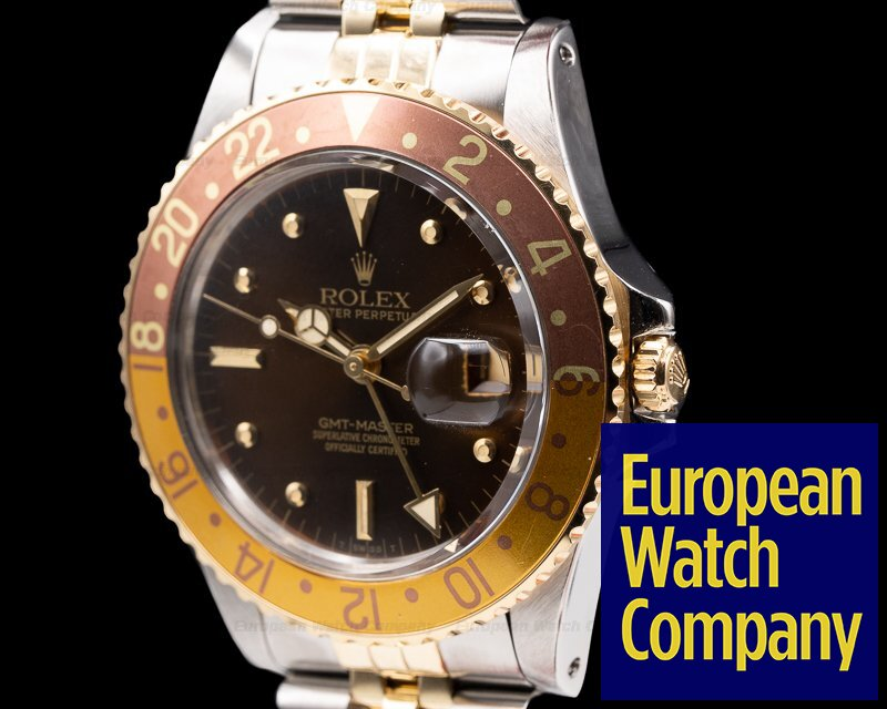 "Rolex 16753 GMT Master Brown Nipple Dial ""Root Beer"" Bezel c. 1979 NICE"