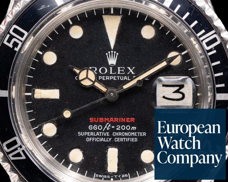 Rolex 1680 Submariner RED MK IV Circa 1973 SS