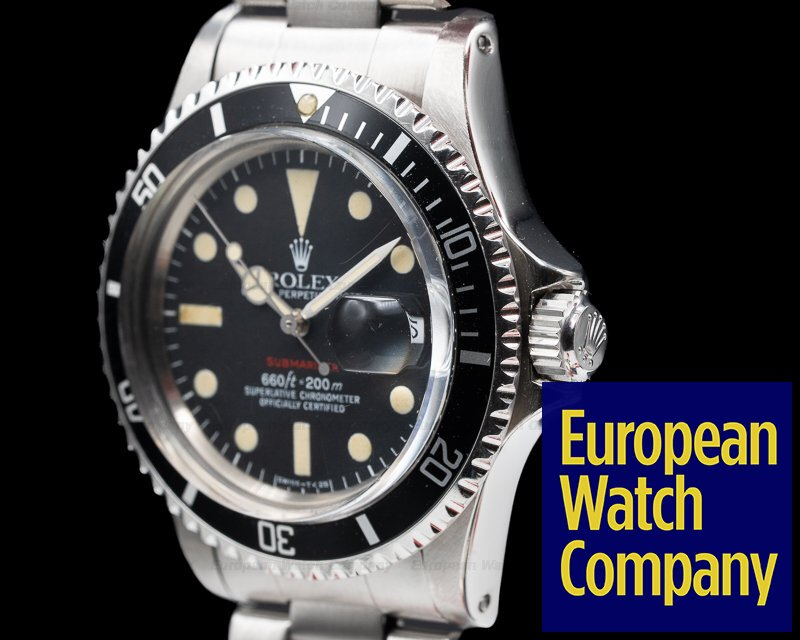Rolex 1680 Vintage RED Submariner MK VI Circa 1973
