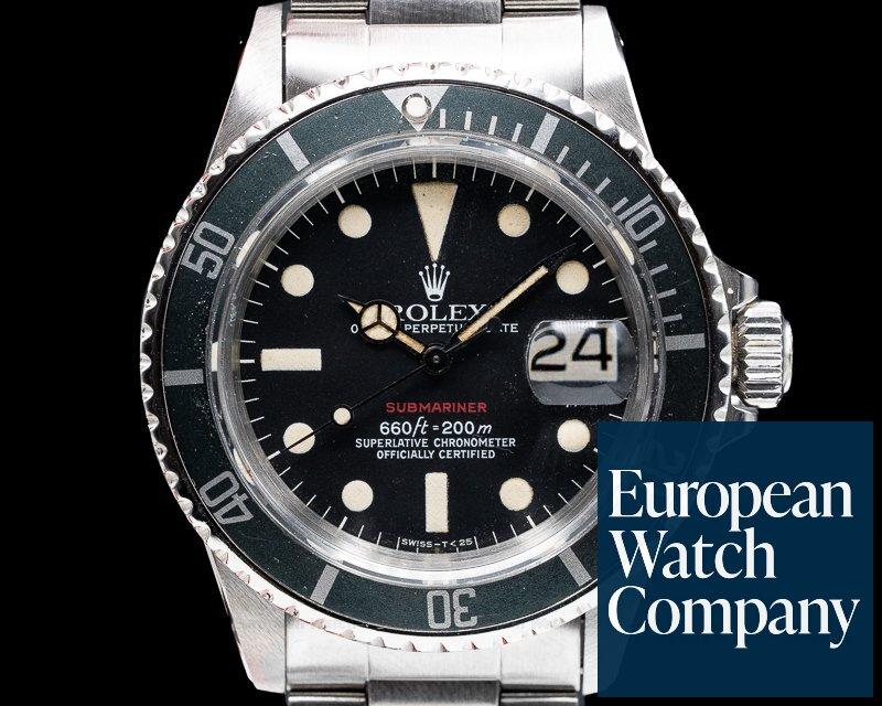 Rolex 1680 Vintage RED Submariner MK VI Circa 1974