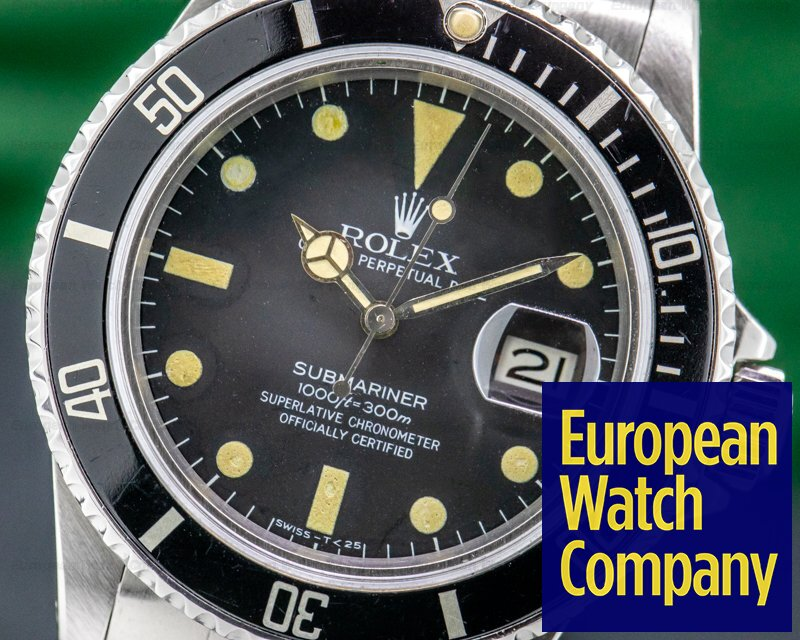 "Rolex 16800 Submariner ""Transitional"" 16800 Matte Dial"