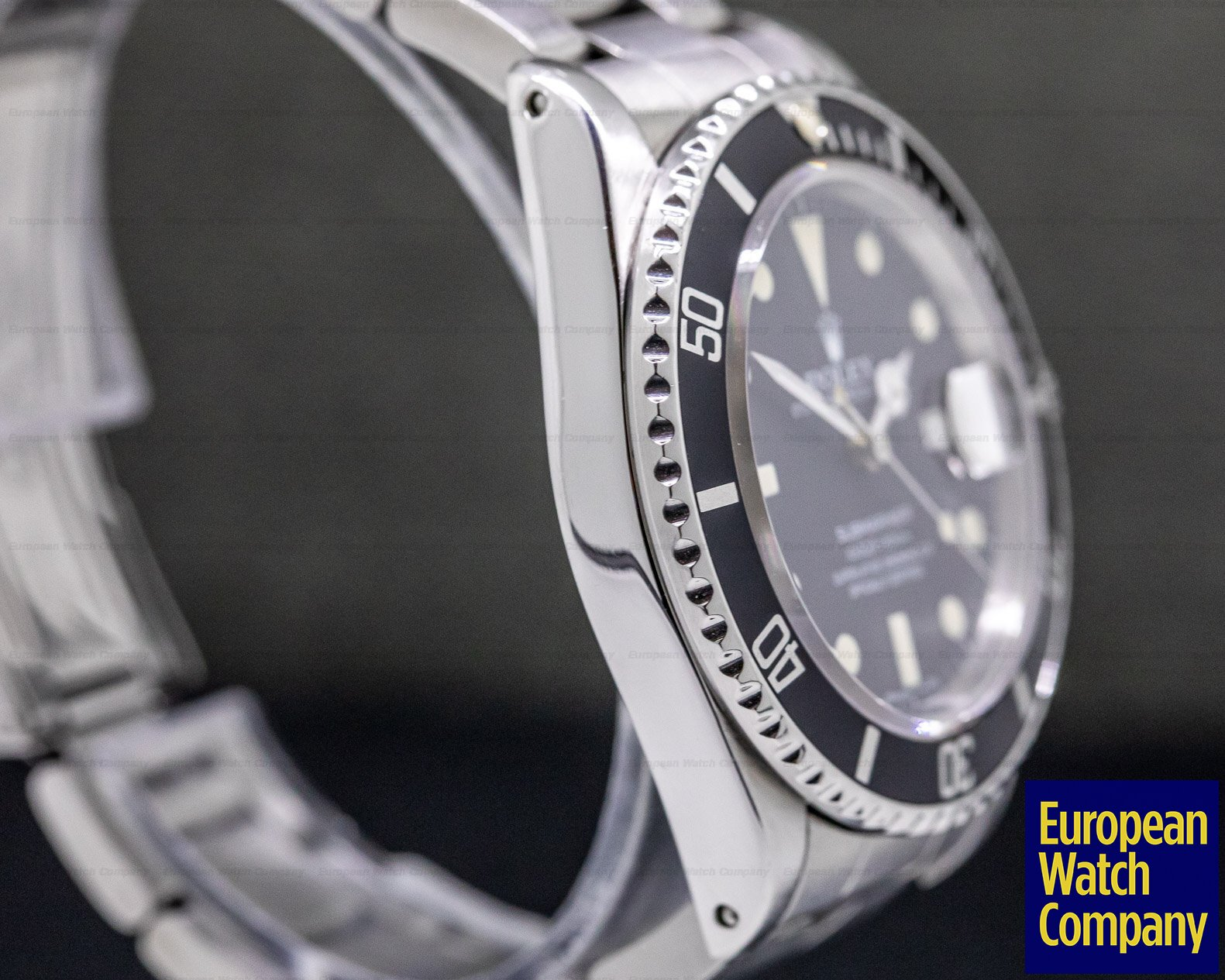 "Rolex 168000 Submariner ""Transitional"" 168000 Matte Dial"