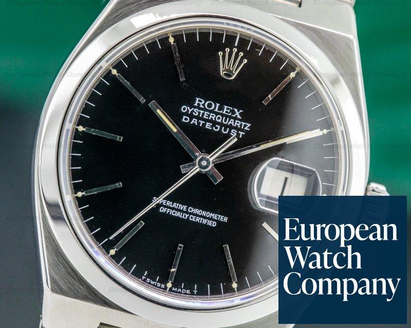Rolex 17000 OysterQuartz Datejust Black Dial