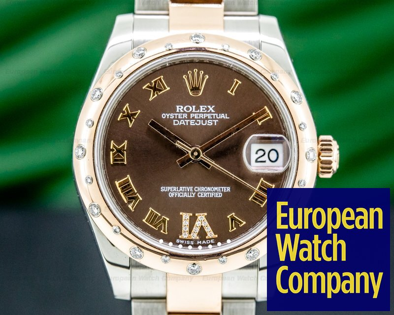 Rolex 178341 Datejust 31MM 18K Rose Gold and Stainless Steel