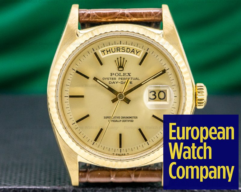 Rolex 1803 Oyster Perpetual Day Date 18K Yellow Gold 1969