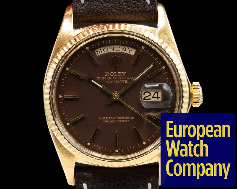 Rolex 1803 Oyster Perpetual Day Date 18K Yellow Gold Chocolate Brown Stella Dial