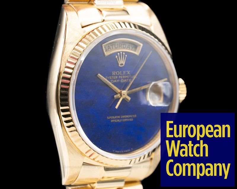 Rolex 18038 Lapis Day Date BLUE LAPIS Dial Yellow Gold