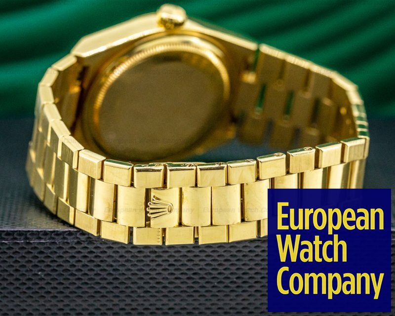 Rolex 19018 OysterQuartz Day Date 18K Yellow Gold / Champaigne Dial FULL SET