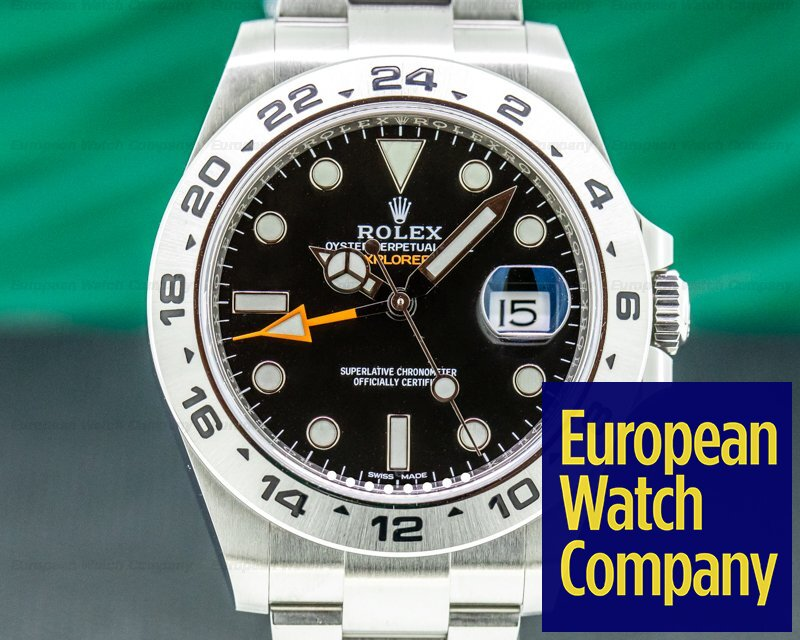 Rolex 216570 Explorer II Black Dial SS / FULL SET 2018